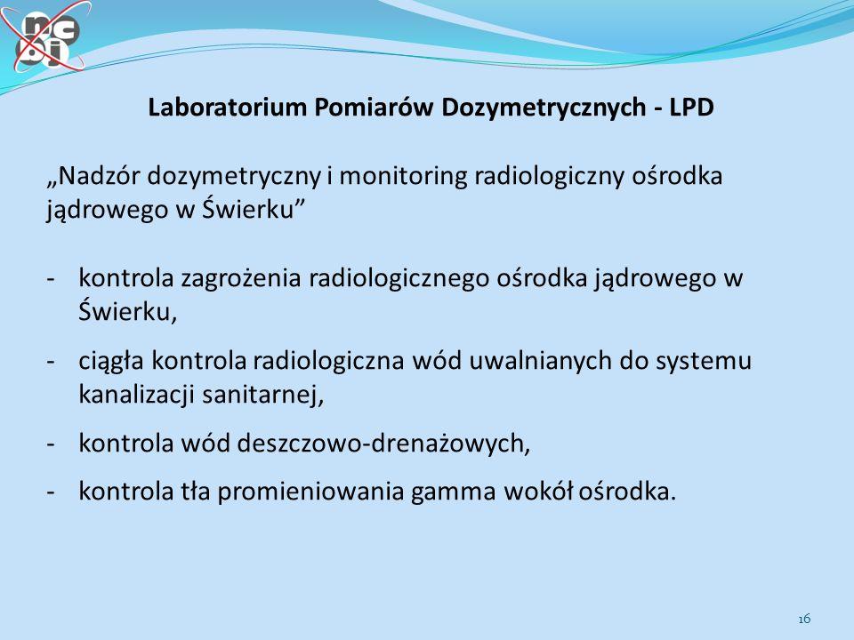 Laboratorium Pomiarów Dozymetrycznych - LPD