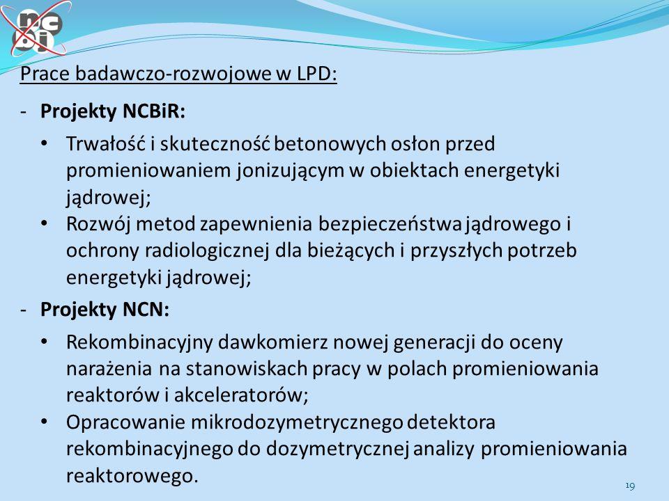 Prace badawczo-rozwojowe w LPD: