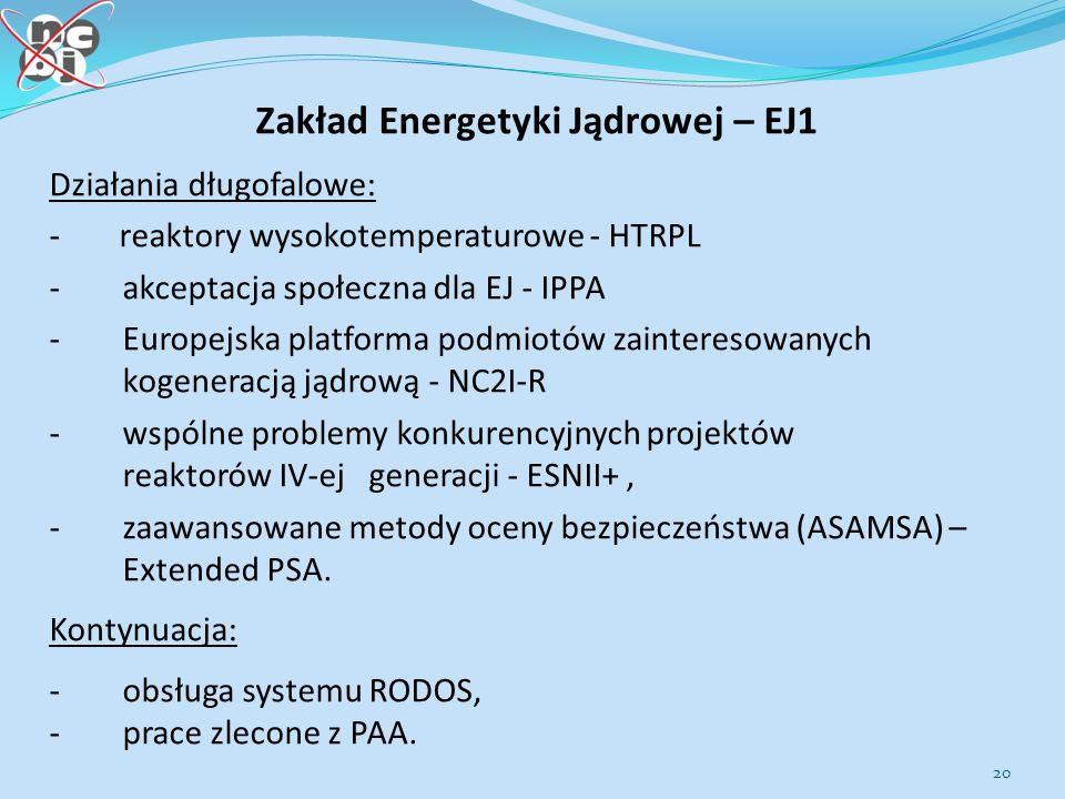 Zakład Energetyki Jądrowej – EJ1