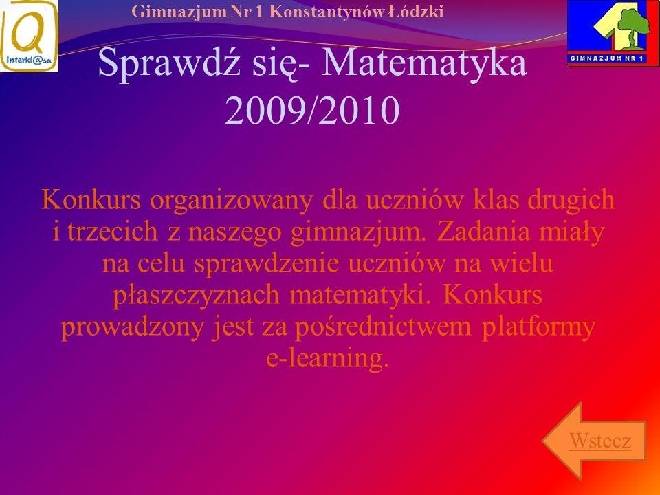 Sprawdź się- Matematyka 2009/2010