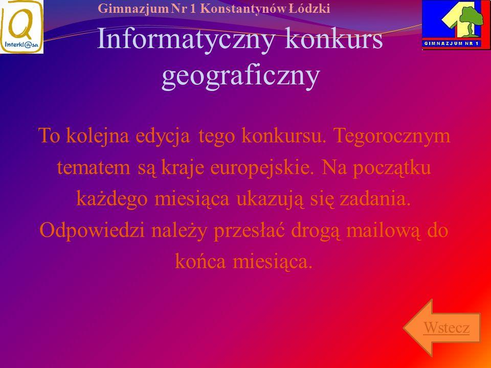 Informatyczny konkurs geograficzny
