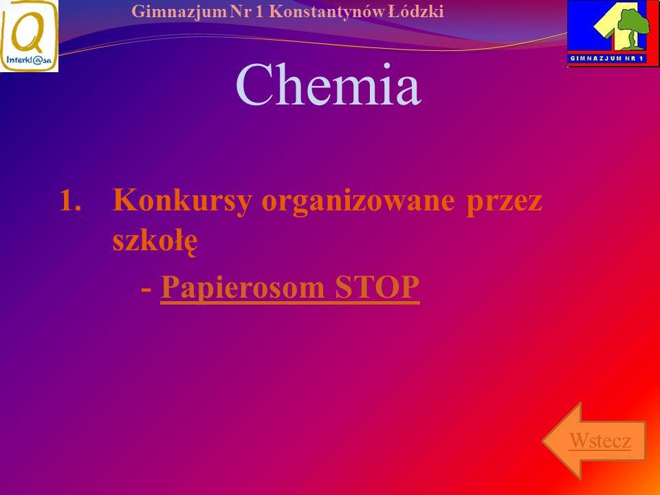 Chemia Konkursy organizowane przez szkołę - Papierosom STOP Wstecz