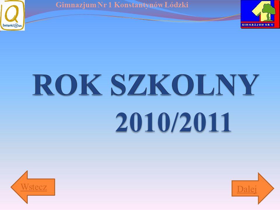 ROK SZKOLNY 2010/2011 Wstecz Dalej