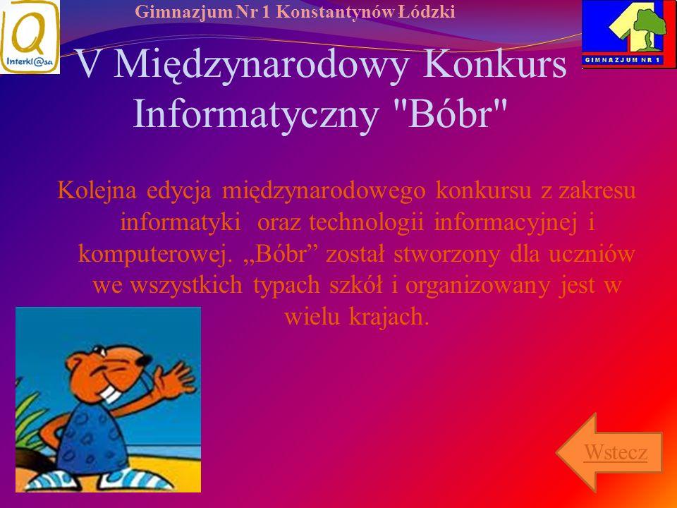 V Międzynarodowy Konkurs Informatyczny Bóbr