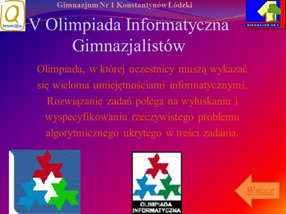 V Olimpiada Informatyczna Gimnazjalistów