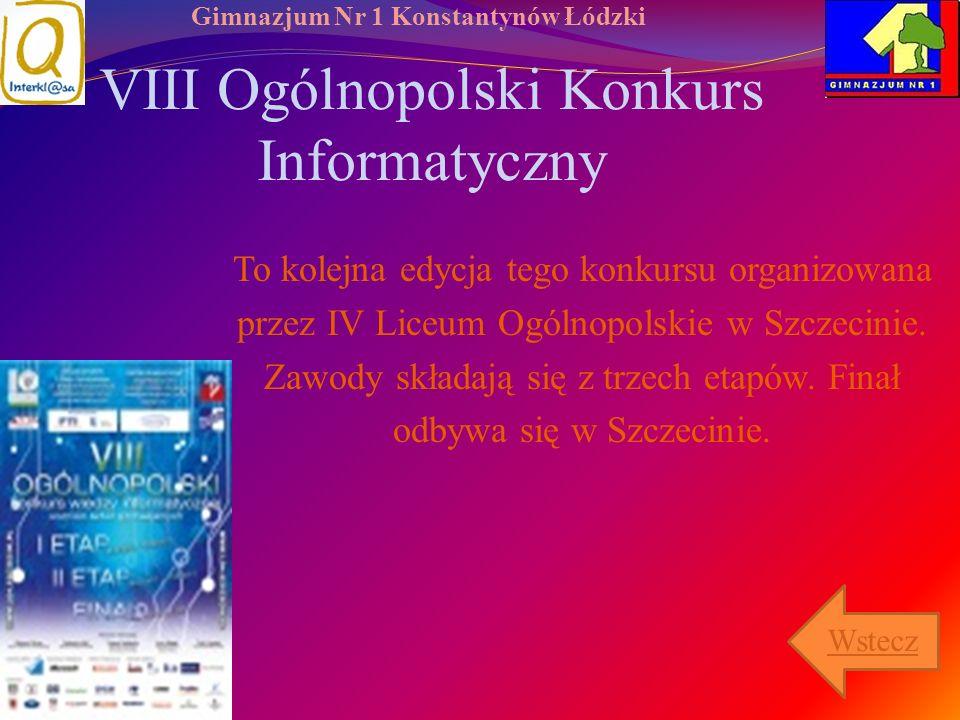 VIII Ogólnopolski Konkurs Informatyczny