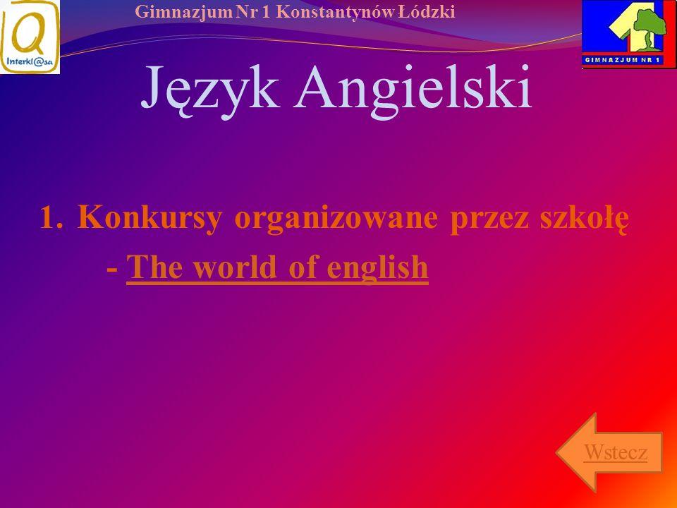 Język Angielski Konkursy organizowane przez szkołę
