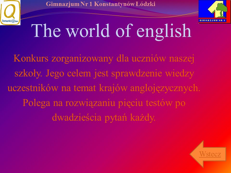 The world of english