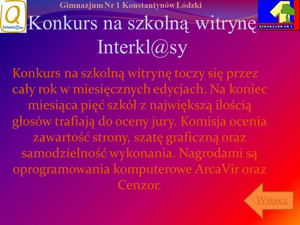 Konkurs na szkolną witrynę Interkl@sy