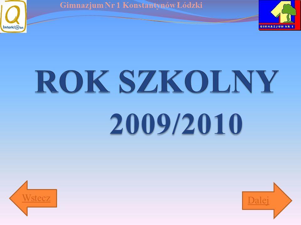 ROK SZKOLNY 2009/2010 Wstecz Dalej