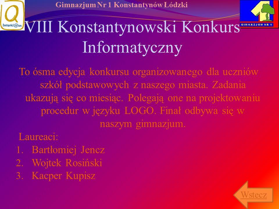 VIII Konstantynowski Konkurs Informatyczny