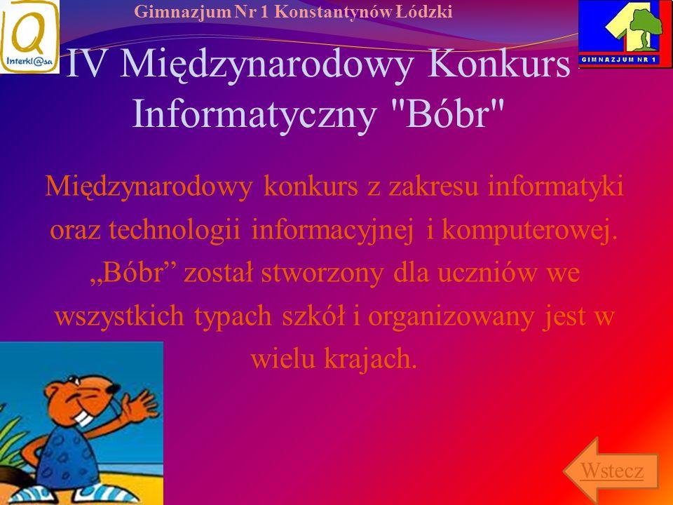 IV Międzynarodowy Konkurs Informatyczny Bóbr