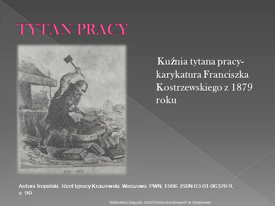 TYTAN PRACY Kuźnia tytana pracy- karykatura Franciszka Kostrzewskiego z 1879 roku.