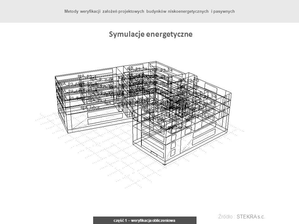 Symulacje energetyczne część 1 – weryfikacja obliczeniowa