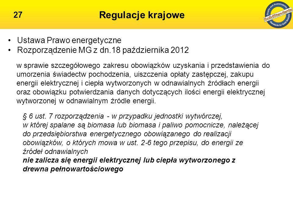 Regulacje krajowe Ustawa Prawo energetyczne