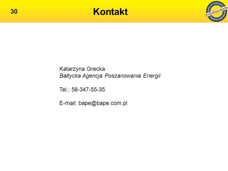 Kontakt Katarzyna Grecka Bałtycka Agencja Poszanowania Energii
