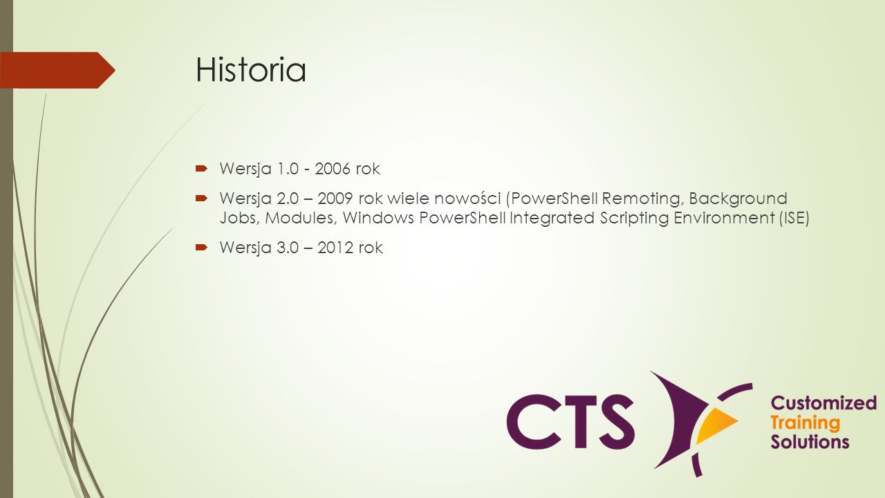 Historia Wersja 1.0 - 2006 rok.
