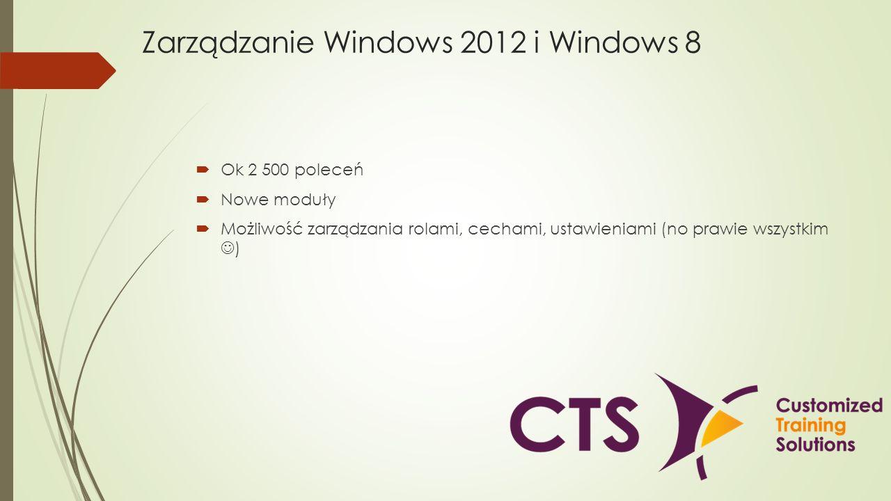 Zarządzanie Windows 2012 i Windows 8