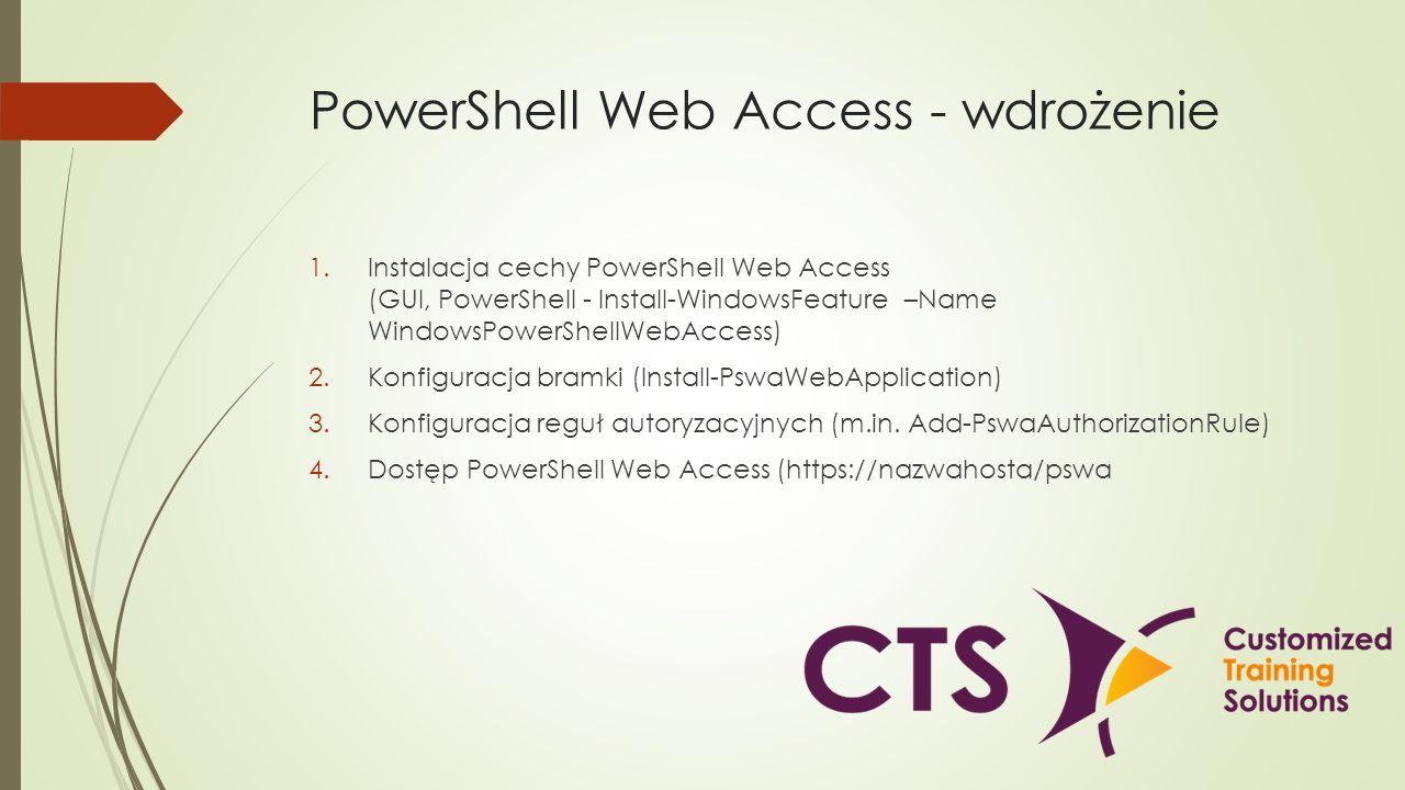 PowerShell Web Access - wdrożenie
