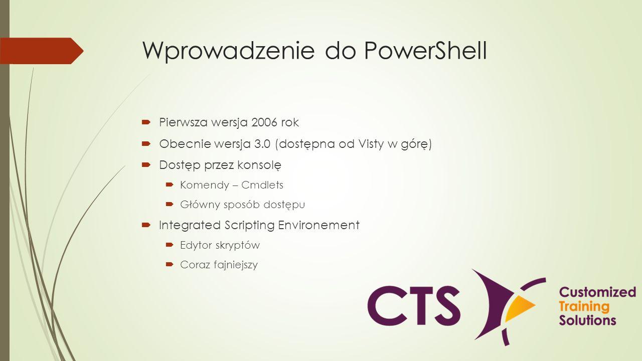 Wprowadzenie do PowerShell