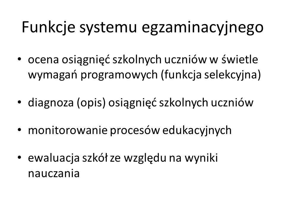 Funkcje systemu egzaminacyjnego