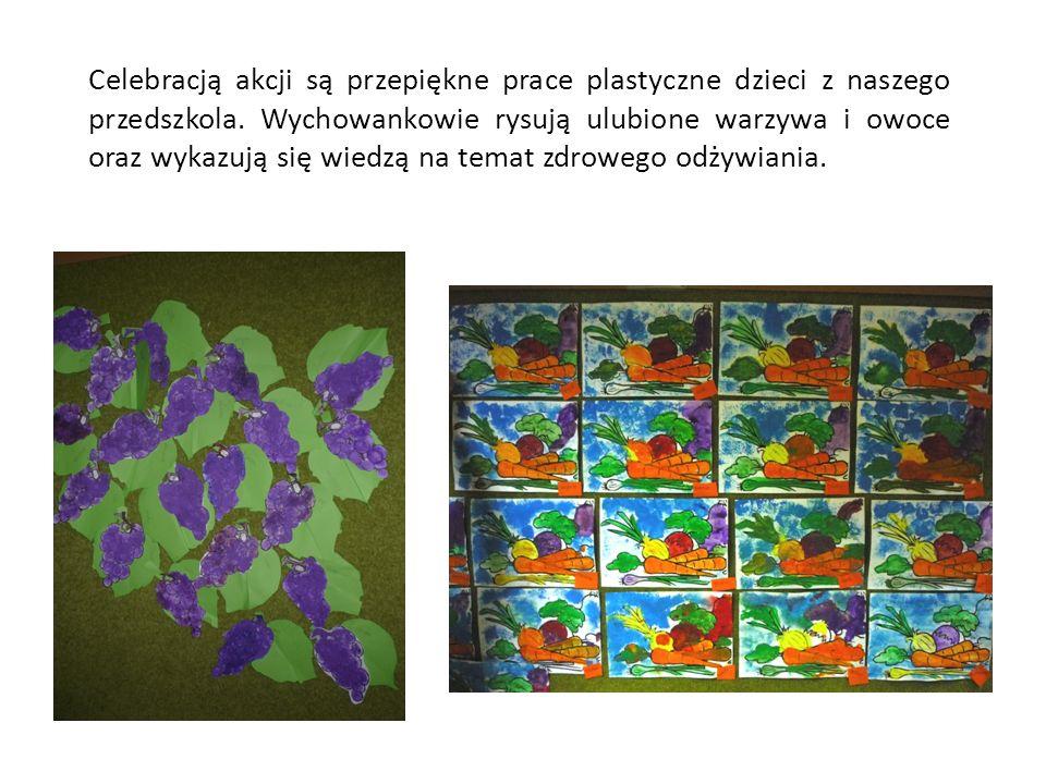 Celebracją akcji są przepiękne prace plastyczne dzieci z naszego przedszkola.