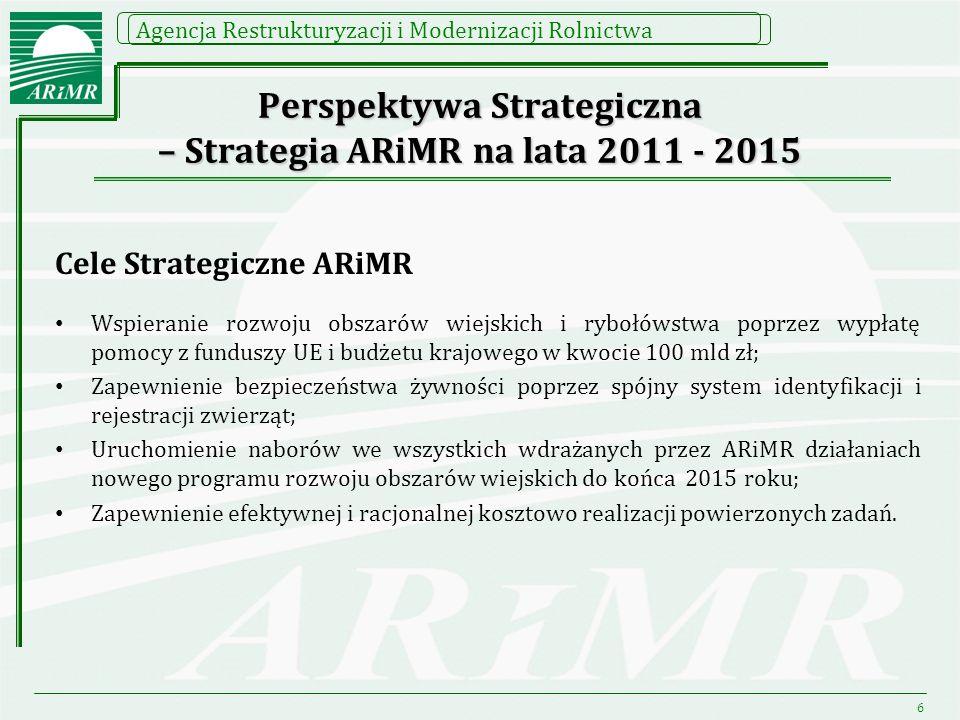 Perspektywa Strategiczna – Strategia ARiMR na lata 2011 - 2015