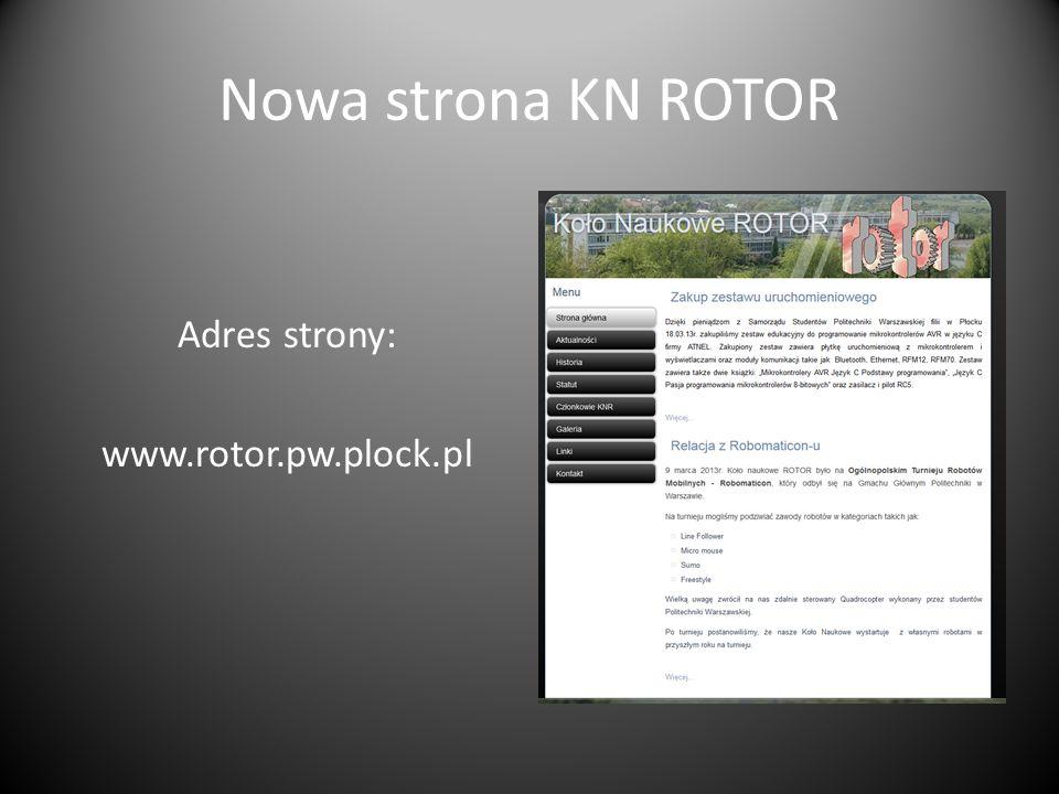 Adres strony: www.rotor.pw.plock.pl
