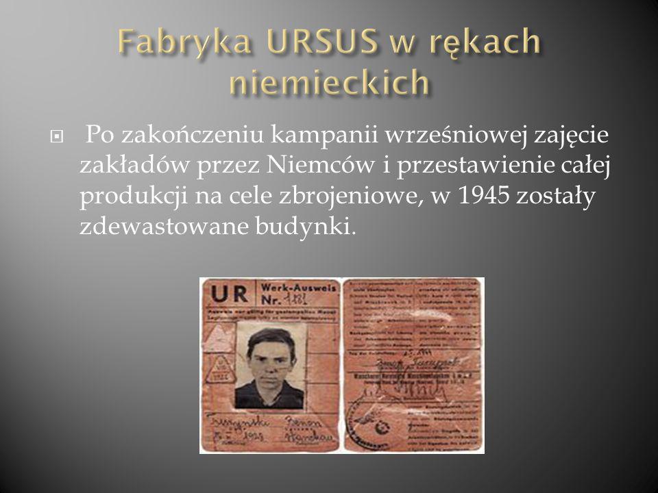 Fabryka URSUS w rękach niemieckich