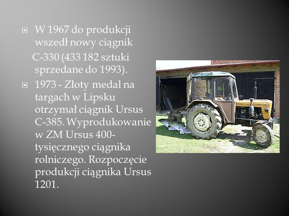 W 1967 do produkcji wszedł nowy ciągnik
