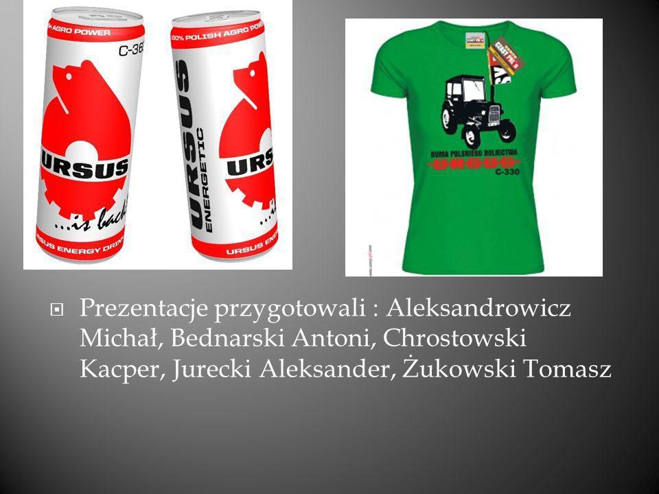 Prezentacje przygotowali : Aleksandrowicz Michał, Bednarski Antoni, Chrostowski Kacper, Jurecki Aleksander, Żukowski Tomasz