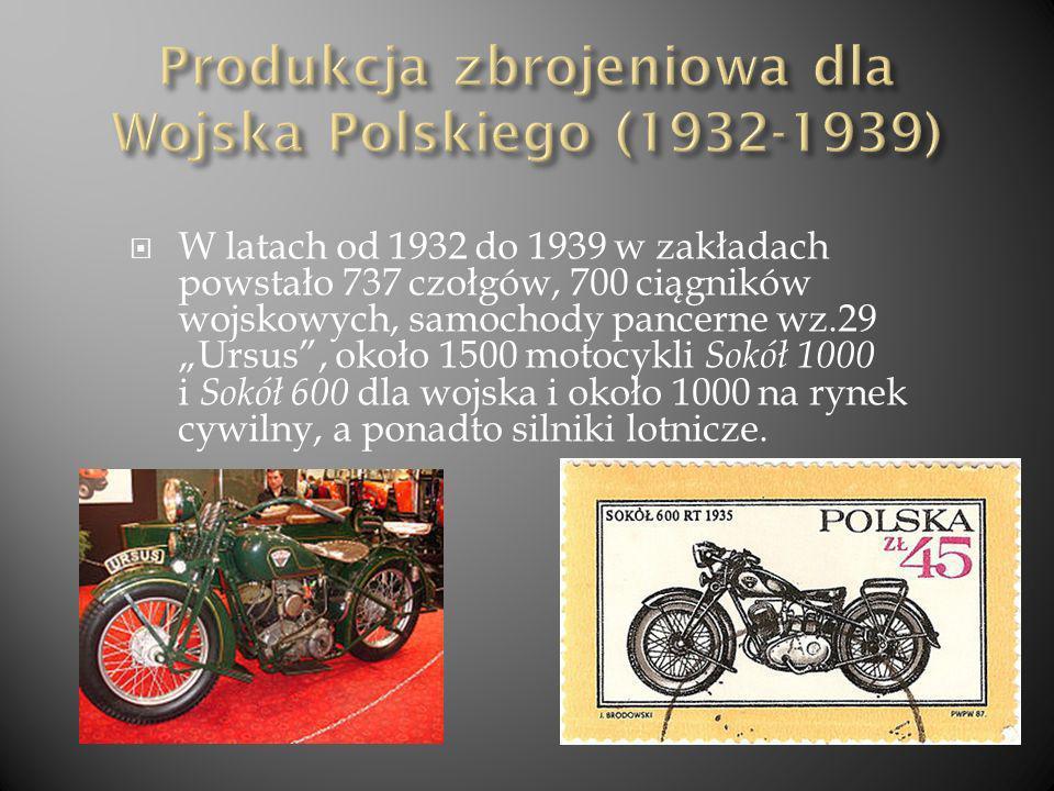 Produkcja zbrojeniowa dla Wojska Polskiego (1932-1939)