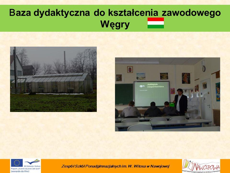 Baza dydaktyczna do kształcenia zawodowego Węgry