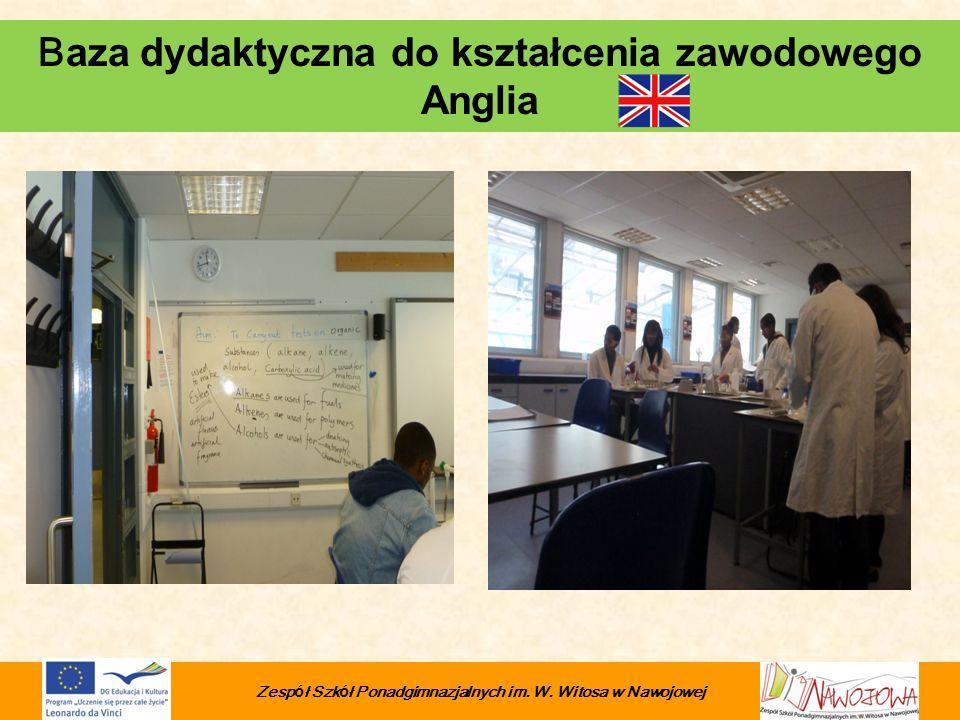 Baza dydaktyczna do kształcenia zawodowego Anglia