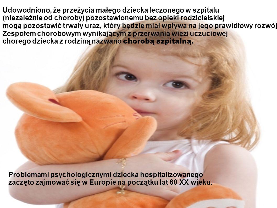Udowodniono, że przeżycia małego dziecka leczonego w szpitalu