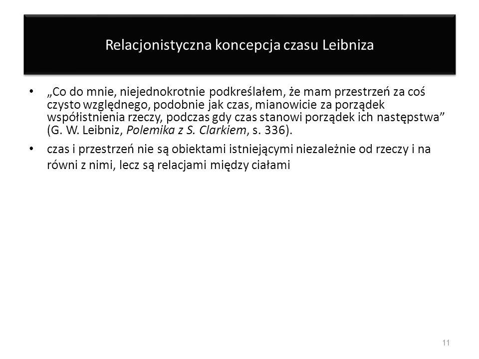 Relacjonistyczna koncepcja czasu Leibniza
