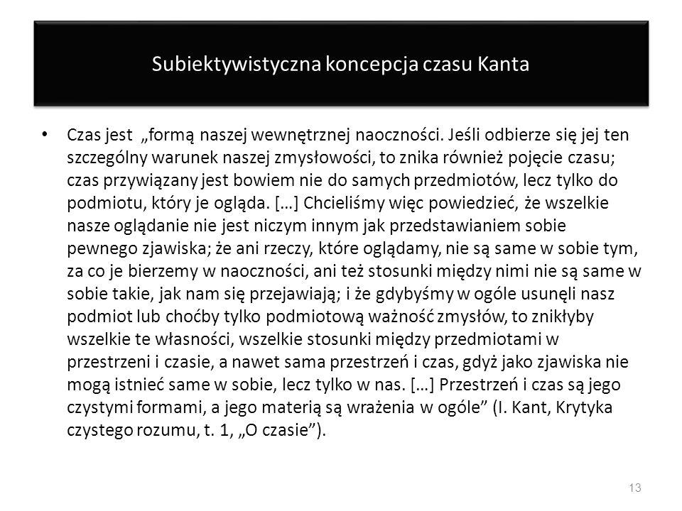 Subiektywistyczna koncepcja czasu Kanta