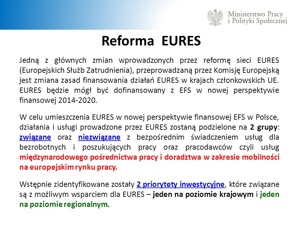 Reforma EURES