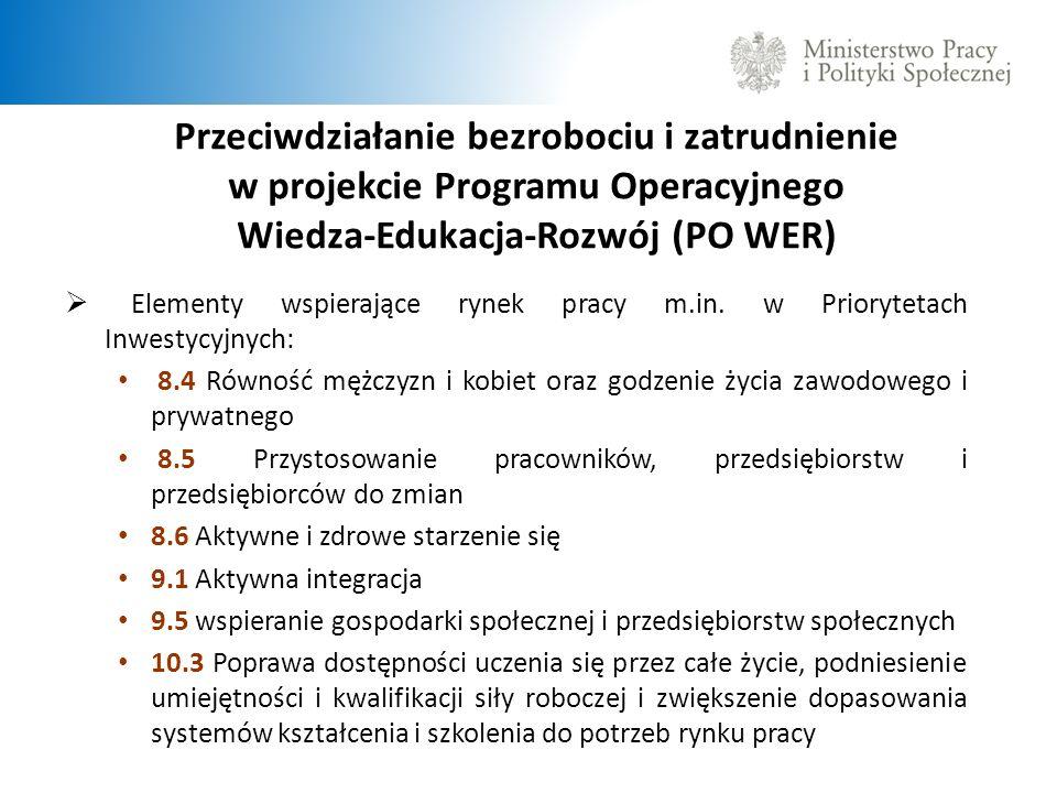 Przeciwdziałanie bezrobociu i zatrudnienie w projekcie Programu Operacyjnego Wiedza-Edukacja-Rozwój (PO WER)