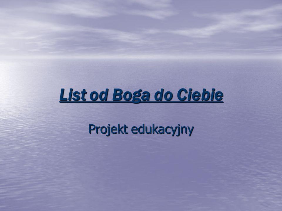 List od Boga do Ciebie Projekt edukacyjny