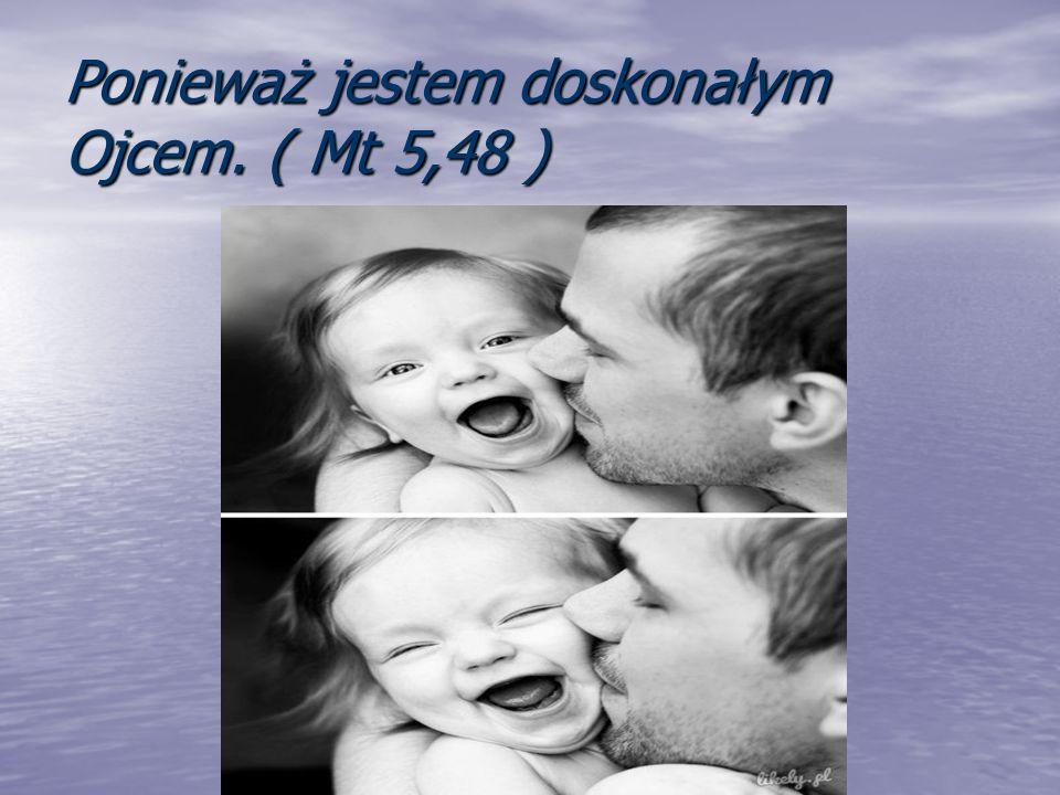 Ponieważ jestem doskonałym Ojcem. ( Mt 5,48 )