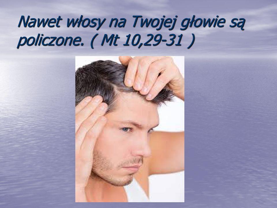 Nawet włosy na Twojej głowie są policzone. ( Mt 10,29-31 )