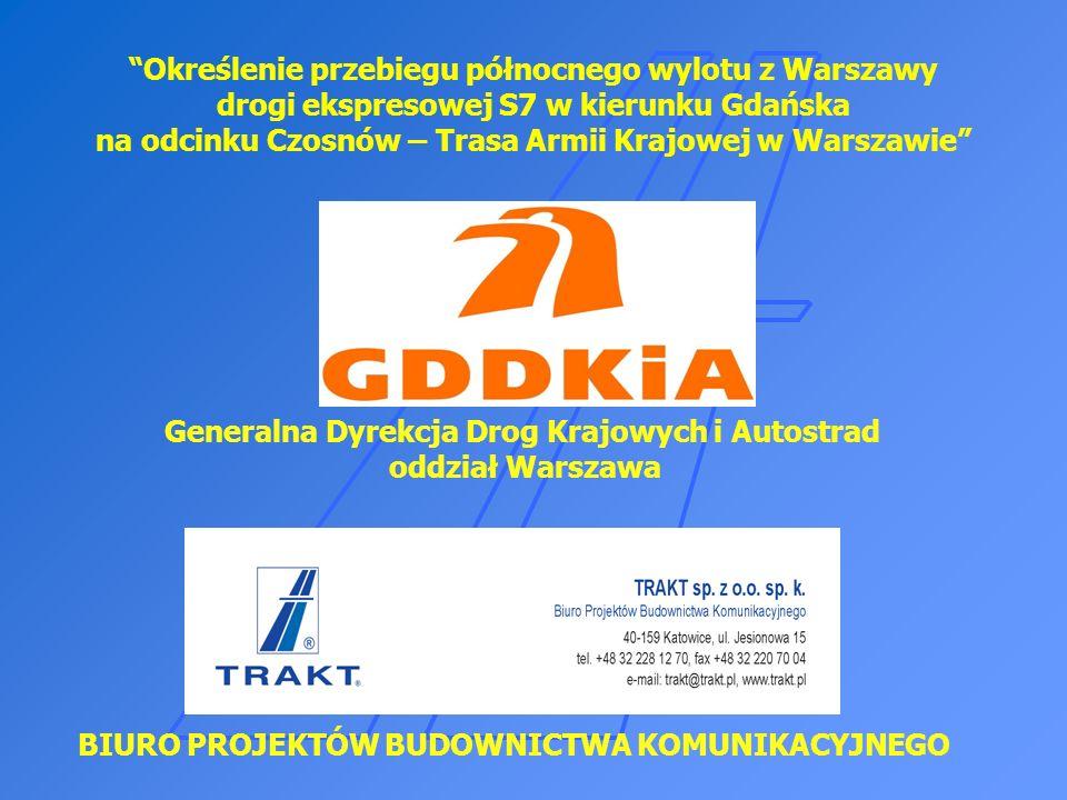 Określenie przebiegu północnego wylotu z Warszawy