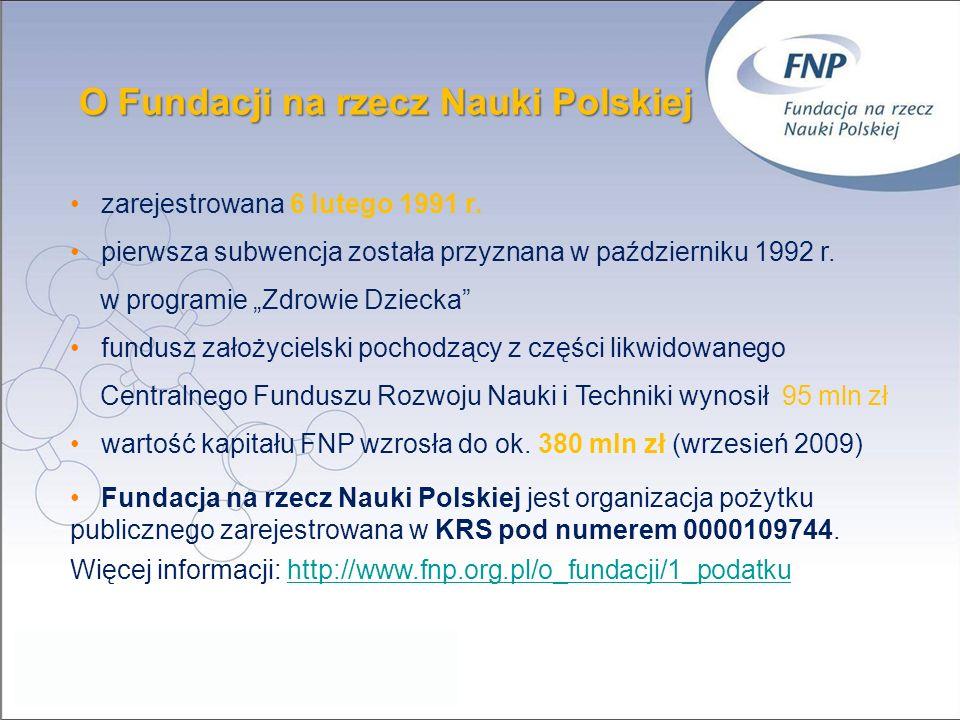 O Fundacji na rzecz Nauki Polskiej