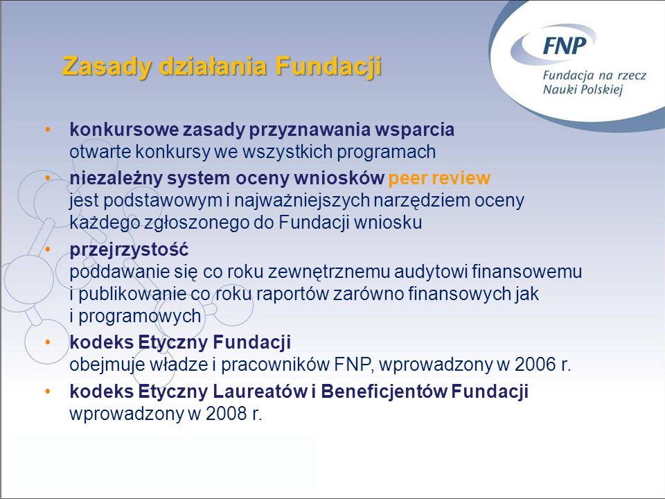 Zasady działania Fundacji