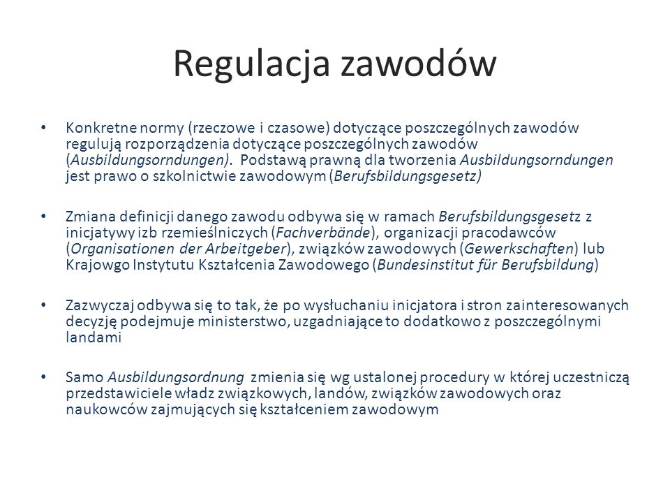 Regulacja zawodów