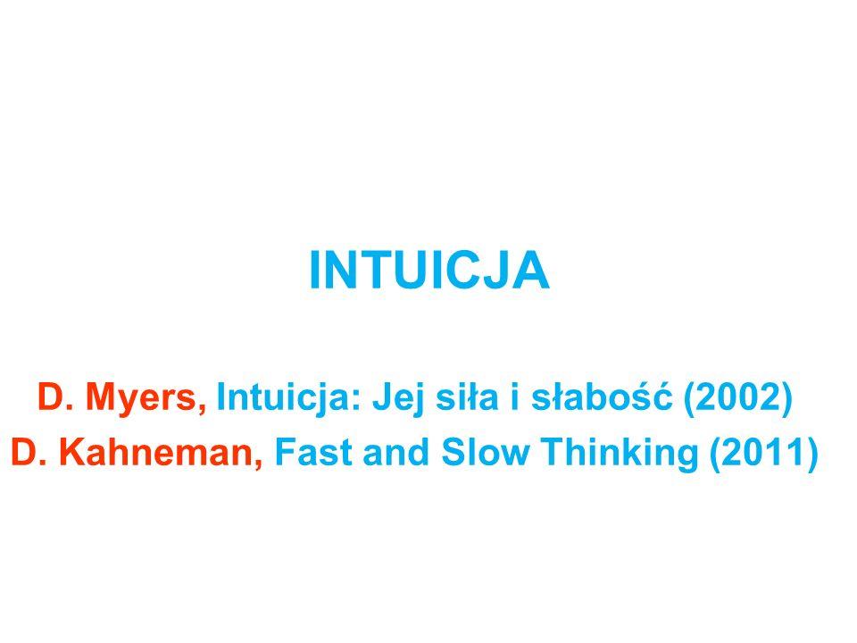 INTUICJA D. Myers, Intuicja: Jej siła i słabość (2002)