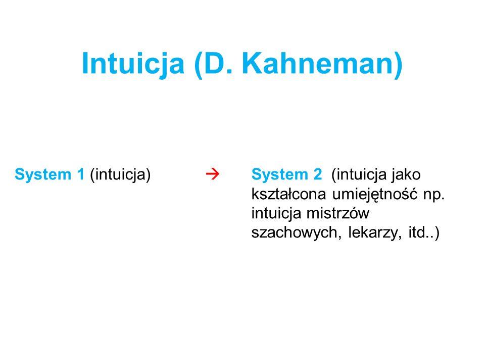 Intuicja (D. Kahneman) System 1 (intuicja) 