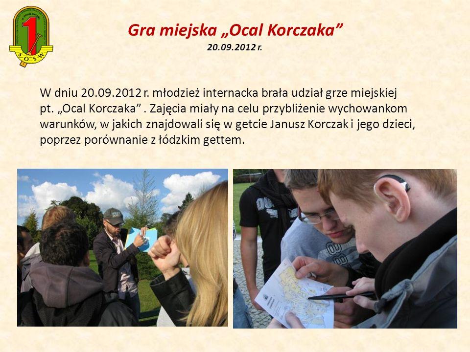"""Gra miejska """"Ocal Korczaka 20.09.2012 r."""