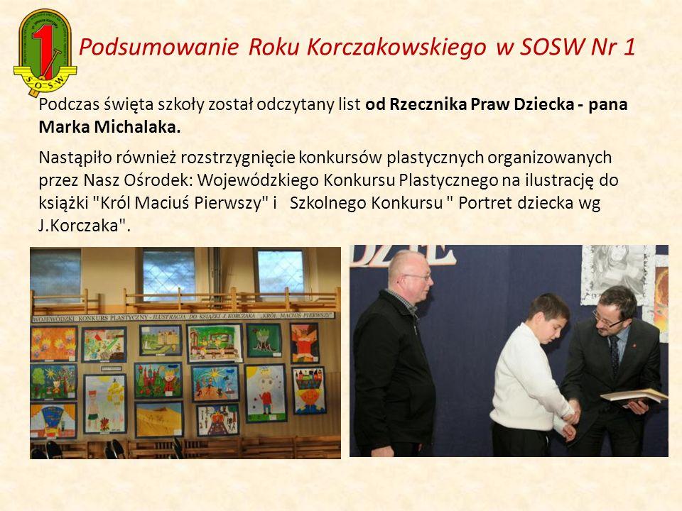 Podsumowanie Roku Korczakowskiego w SOSW Nr 1